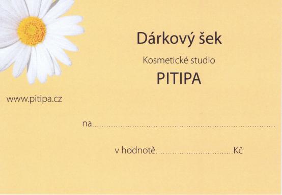 obrázek dárkového šeku